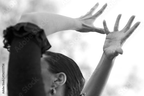 Fotografie, Obraz  Manos bailando flamenco