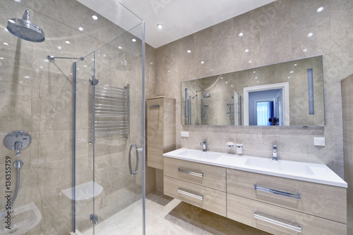 Valokuva  Russia,Moscow region - bathroom interior in new luxury country house