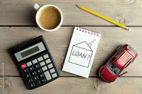 Fotografía  Home loan finances concept