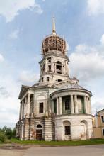 Torzhok, Russia. The Belltower Of The Ancient Boris And Gleb Monastery