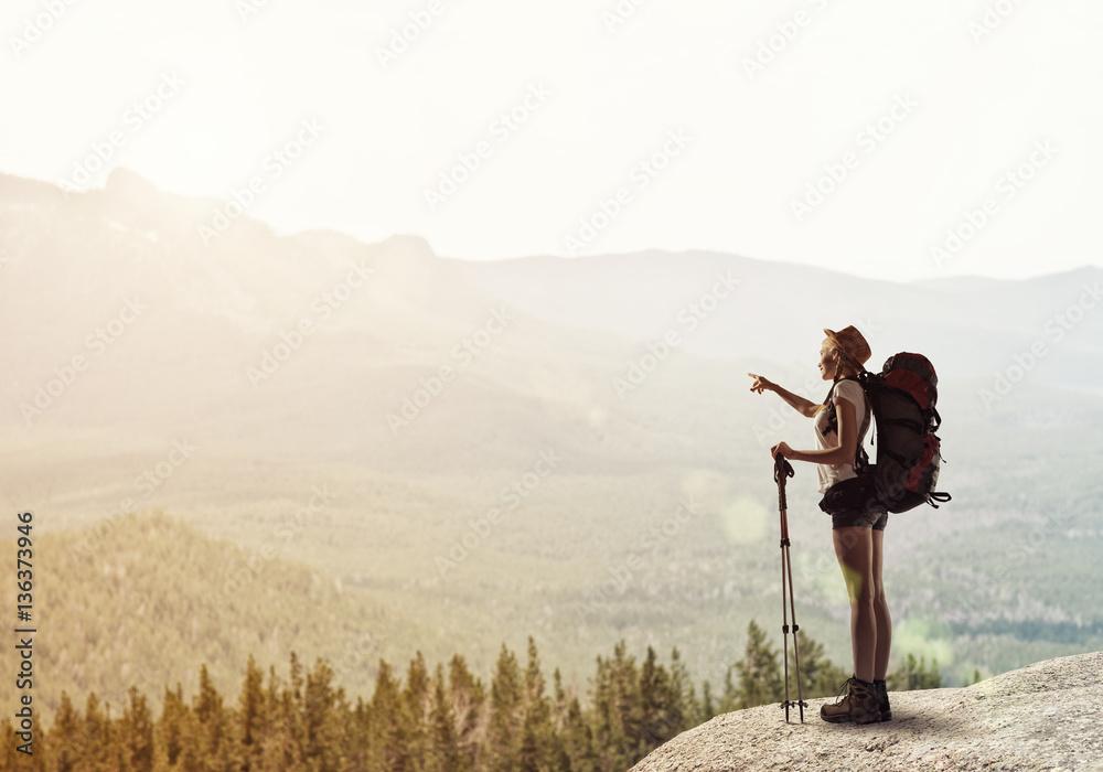 Fototapety, obrazy: Trekking and hiking