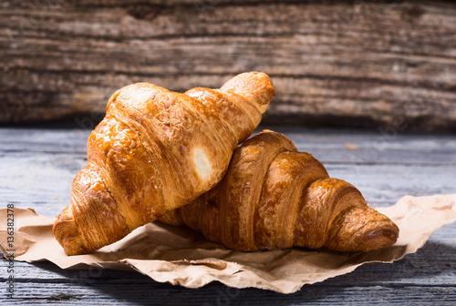 Fotografie, Obraz  Tasty buttery croissants