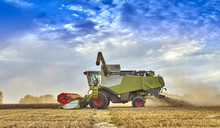 Combine Harvesting On The Sout...