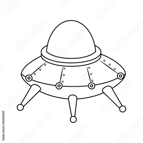 Space Ship Kids Toy Isolated Icon Vector Illustration Design Buy