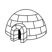 Igloo Exterior Isolated Icon Vector Illustration Design