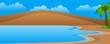 Landscape Coastal Dunes Vector Illustration
