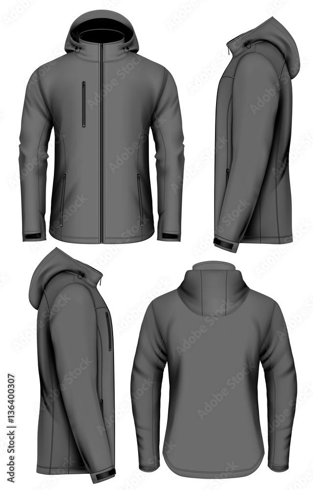 Fototapeta Men softshell jacket vector illustration