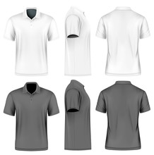 Mens Short Sleeve Vector Illus...