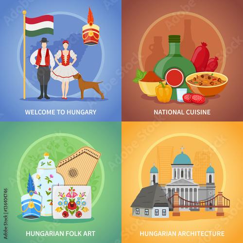 Photo  Hungarian Culture Compositions Set