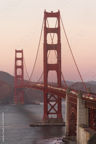 Plakat Golden Gate Bridge Fortu punktu San Fransisco Zatoka Kalifornia