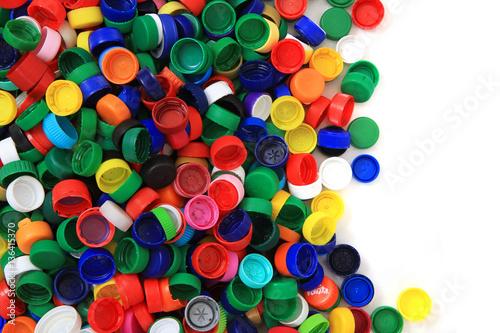 plastic pet caps texture #136415370