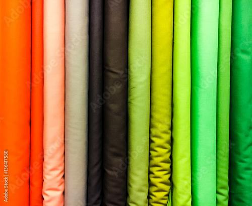colorful fabrics selection Fototapete