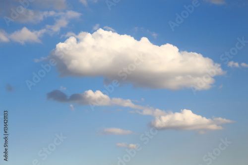 Foto op Canvas UFO Blue sky and white clouds