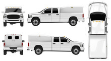 White Pickup Truck Template Is...