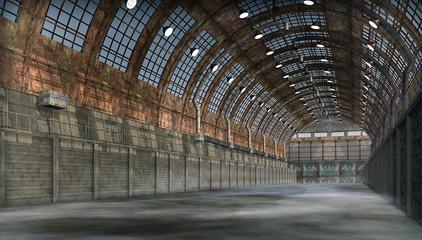 FototapetaAlter verlassener Hangar 2
