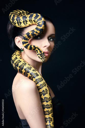beautiful woman,snake,jewel...