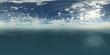 HDRI, environment map, Round panorama, spherical panorama, equidistant projection, sea sunset