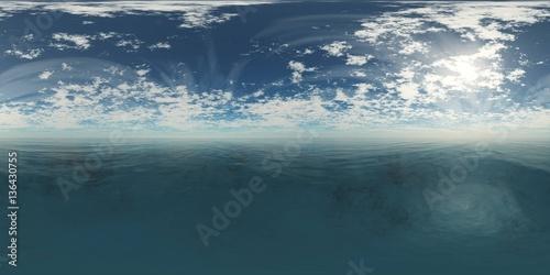 Fototapeta HDRI, environment map, Round panorama, spherical panorama, equidistant projection, sea sunset  obraz na płótnie