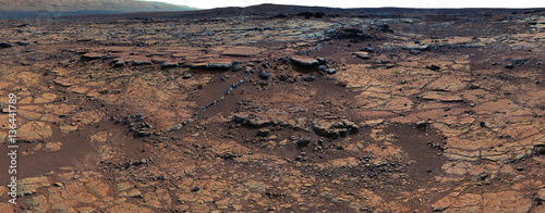 Deurstickers Nasa Panorama of Mars surface. Elements of this image furnished by NASA