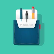 Pocket Protector Vector Illust...