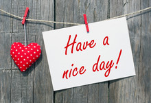 Have A Nice Day - Red Heart Wi...