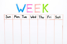 Seven Days Of The Week Writing...