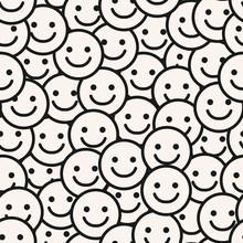 Smile Face Seamless Pattern