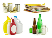 Four Groups Of Household Recyc...