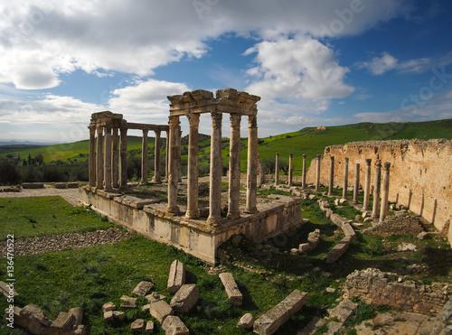 Staande foto Tunesië ancient Roman ruins in Tunisia, northern Africa