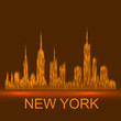Technology image of New York. The concept vector illustration eps10. Abstract background.