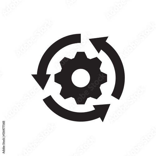 Fototapeta gear rotate icon illustration obraz