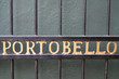 Portobello street sign