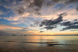 Coast of the sea at colorful sunset Koh Chang, Thailand. Beach s