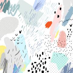 Fototapeta Abstract creative header. Modern artistic background. Contemporary graphic design