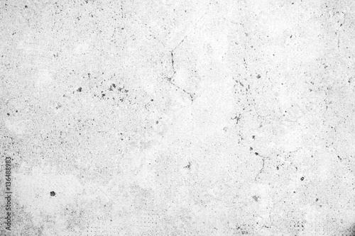 Fotomural Weathered and aged grey concrete wall texture background in black&white