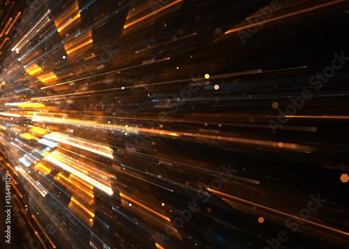 Fotografiet  Abstract Shiny Futuristic HiTech Surface    Background - Fractal Art