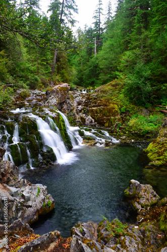 Sawmill Falls, Oregon, in a breathtaking canyon of