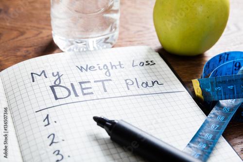 Foto op Canvas Kruidenierswinkel Diet Plan Concept