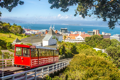 Tuinposter Nieuw Zeeland wellington cable car, new zealand