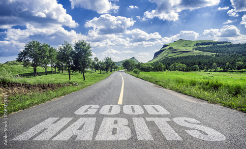 Fototapeta road to good habits