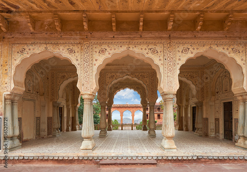 Amer Fort  is located in Amer, Rajasthan, India. Canvas Print