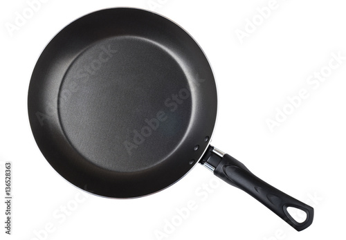 Fotografie, Obraz  Frying pan with non-stick surface isolated on white