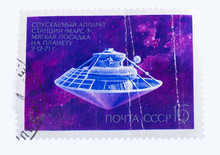 USSR - CIRCA 1972: A Stamp Printed In The  Shows  Space Shi