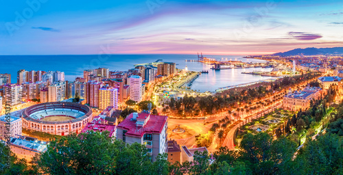 Malaga from the skies Wallpaper Mural