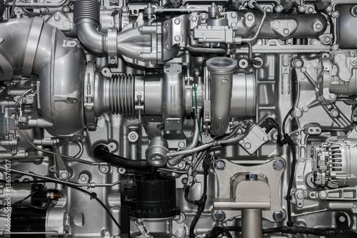 Fotografie, Obraz  Large diesel engine
