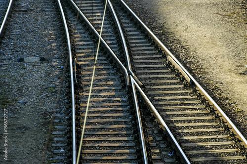 Fotografia  Vienna, West railway station, railway, overlapping tracks