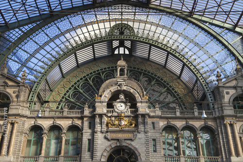 Canvas Prints Antwerp Train Hall of Antwerp Central Station