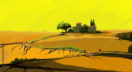 Poster Jaune landscape