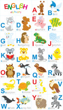 English Alphabet With Funny An...