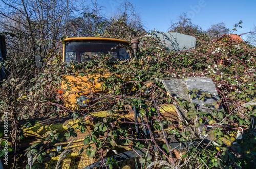 Valokuva  verlassener oranger unimog